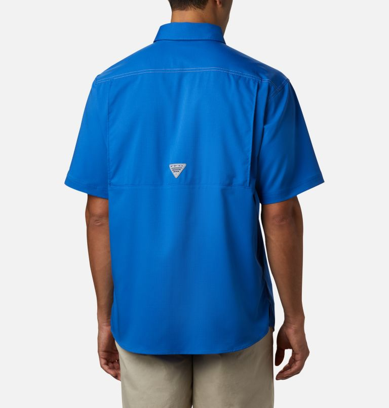 Low Drag Offshore™ SS Shirt | 487 | L Men's PFG Low Drag Offshore™ Short Sleeve Shirt, Vivid Blue, back