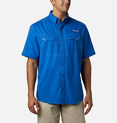 Men's PFG Low Drag Offshore™ Short Sleeve Shirt Low Drag Offshore™ SS Shirt | 967 | XS, Vivid Blue, front