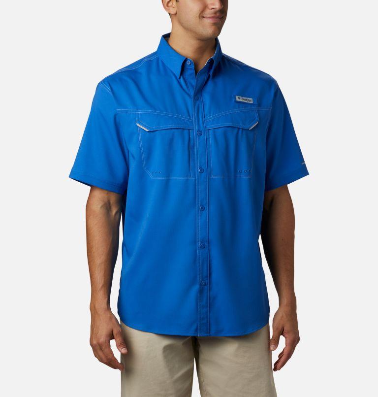 Low Drag Offshore™ SS Shirt | 487 | L Men's PFG Low Drag Offshore™ Short Sleeve Shirt, Vivid Blue, front