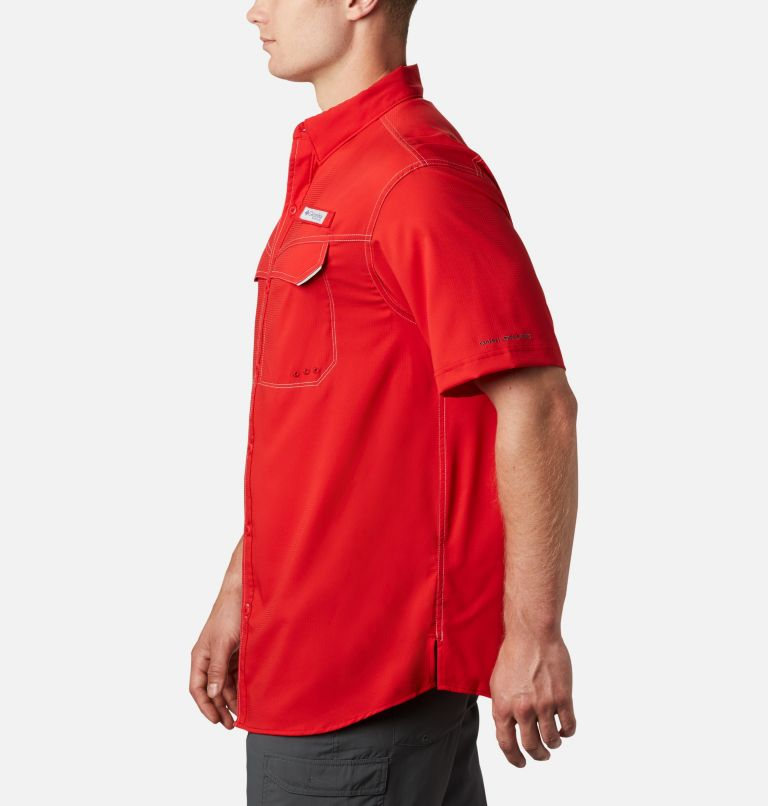 Low Drag Offshore™ SS Shirt | 696 | XS Men's PFG Low Drag Offshore™ Short Sleeve Shirt, Red Spark, a1