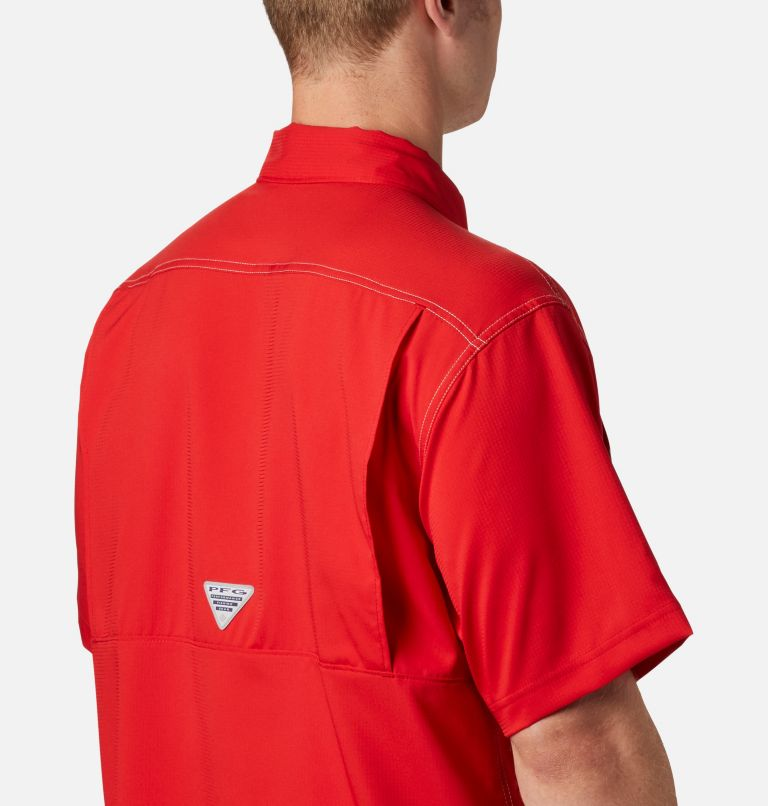 Low Drag Offshore™ SS Shirt | 696 | L Men's PFG Low Drag Offshore™ Short Sleeve Shirt, Red Spark, a2