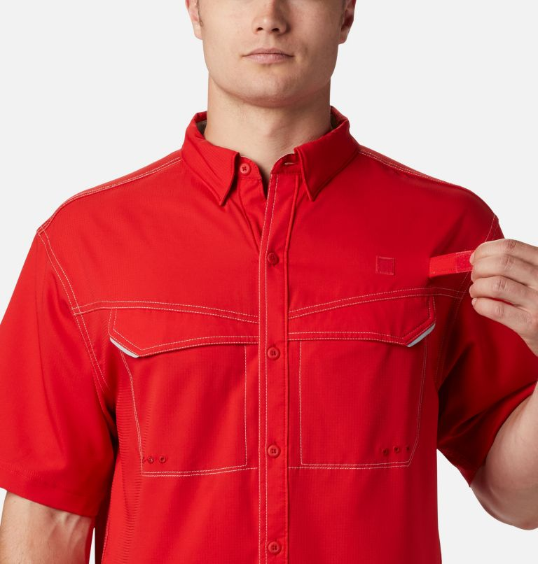 Low Drag Offshore™ SS Shirt | 696 | XS Men's PFG Low Drag Offshore™ Short Sleeve Shirt, Red Spark, a3