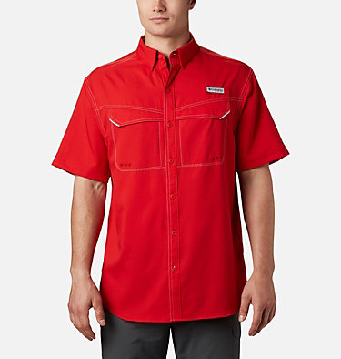 Men's PFG Low Drag Offshore™ Short Sleeve Shirt Low Drag Offshore™ SS Shirt | 967 | XS, Red Spark, front
