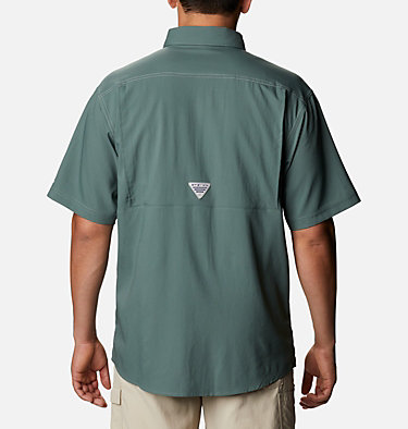 Men's PFG Low Drag Offshore™ Short Sleeve Shirt Low Drag Offshore™ SS Shirt | 967 | XS, Pond, back