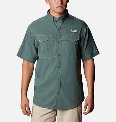 Men's PFG Low Drag Offshore™ Short Sleeve Shirt Low Drag Offshore™ SS Shirt | 967 | XS, Pond, front