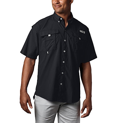 Men's PFG Bahama™ II Short Sleeve Shirt Bahama™ II S/S Shirt | 480 | M, Black, front