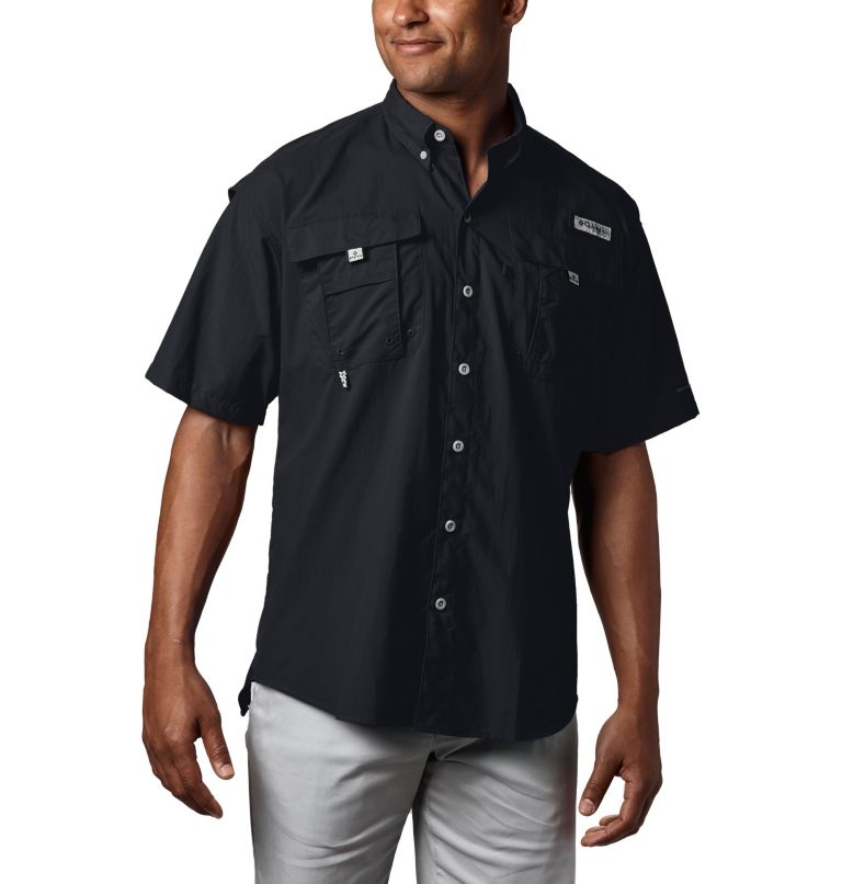 Bahama™ II S/S Shirt | 010 | M Men's PFG Bahama™ II Short Sleeve Shirt, Black, front