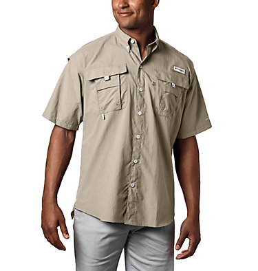 Chemise à manches courtes PFG Bahama™ II pour homme Bahama™ II S/S Shirt | 160 | S, Fossil, front