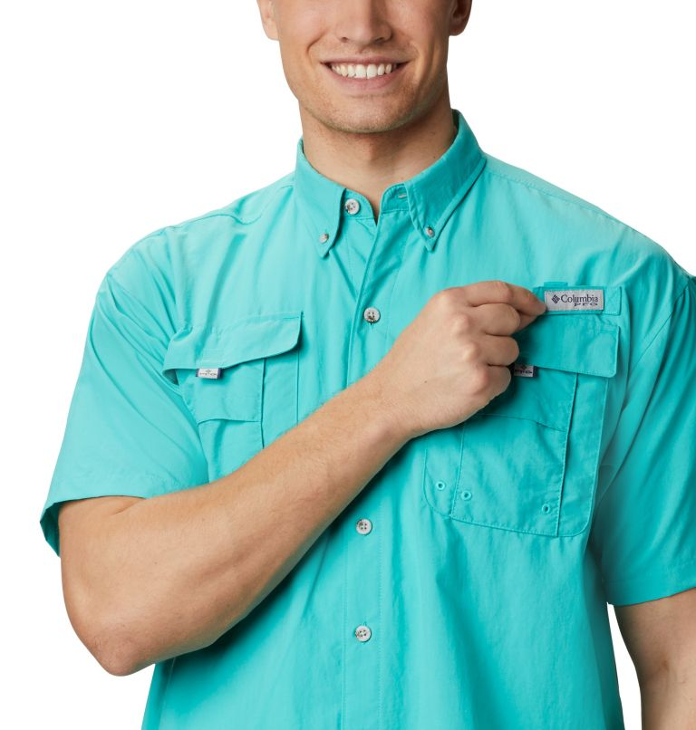 Bahama™ II S/S Shirt | 456 | XS Men's PFG Bahama™ II Short Sleeve Shirt, Bright Aqua, a3