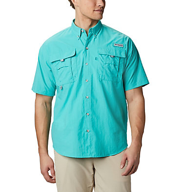 Men's PFG Bahama™ II Short Sleeve Shirt Bahama™ II S/S Shirt | 480 | M, Bright Aqua, front