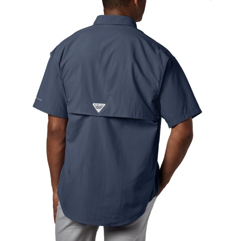 Bahama™ II S/S Shirt | 464 | S Men's PFG Bahama™ II Short Sleeve Shirt, Collegiate Navy, back