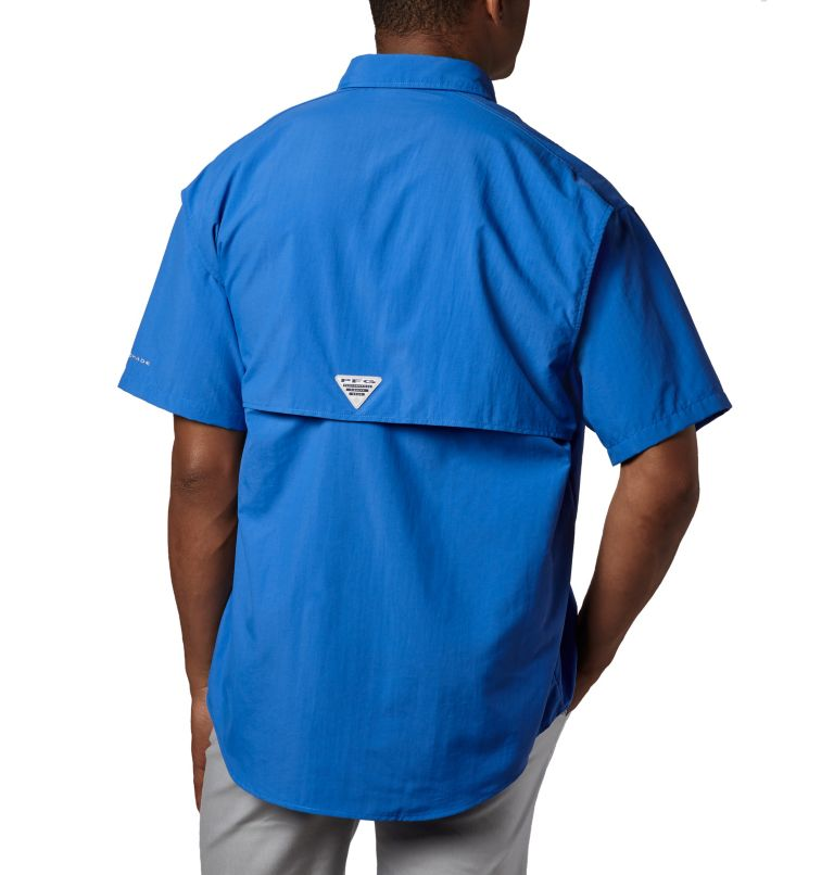Bahama™ II S/S Shirt | 487 | XXL Men's PFG Bahama™ II Short Sleeve Shirt, Vivid Blue, back