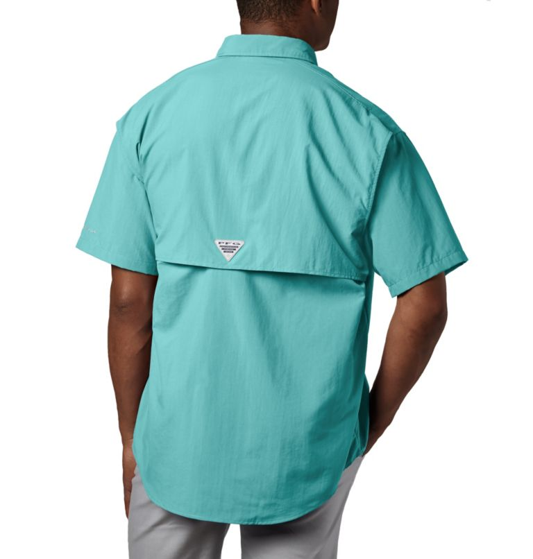 Bahama™ II S/S Shirt | 499 | M Men's PFG Bahama™ II Short Sleeve Shirt, Gulf Stream, back