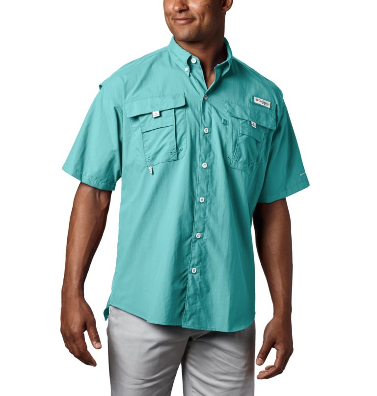 Bahama™ II S/S Shirt | 499 | XL Men's PFG Bahama™ II Short Sleeve Shirt, Gulf Stream, front