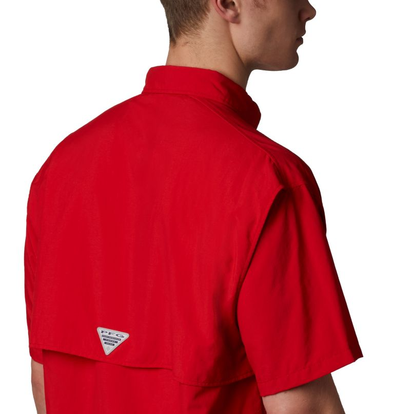 Bahama™ II S/S Shirt | 696 | XS Men's PFG Bahama™ II Short Sleeve Shirt, Red Spark, a3