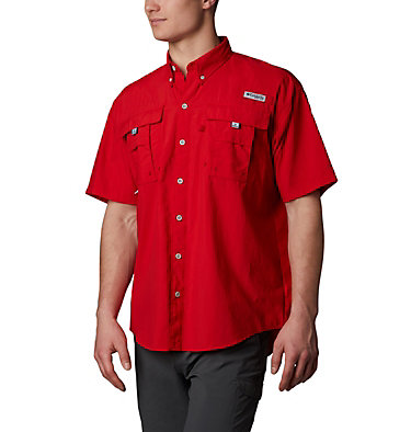 Men's PFG Bahama™ II Short Sleeve Shirt Bahama™ II S/S Shirt | 480 | M, Red Spark, front