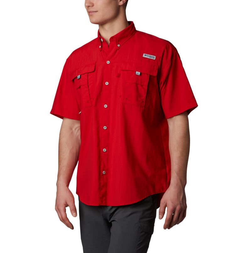Bahama™ II S/S Shirt | 696 | XS Men's PFG Bahama™ II Short Sleeve Shirt, Red Spark, front