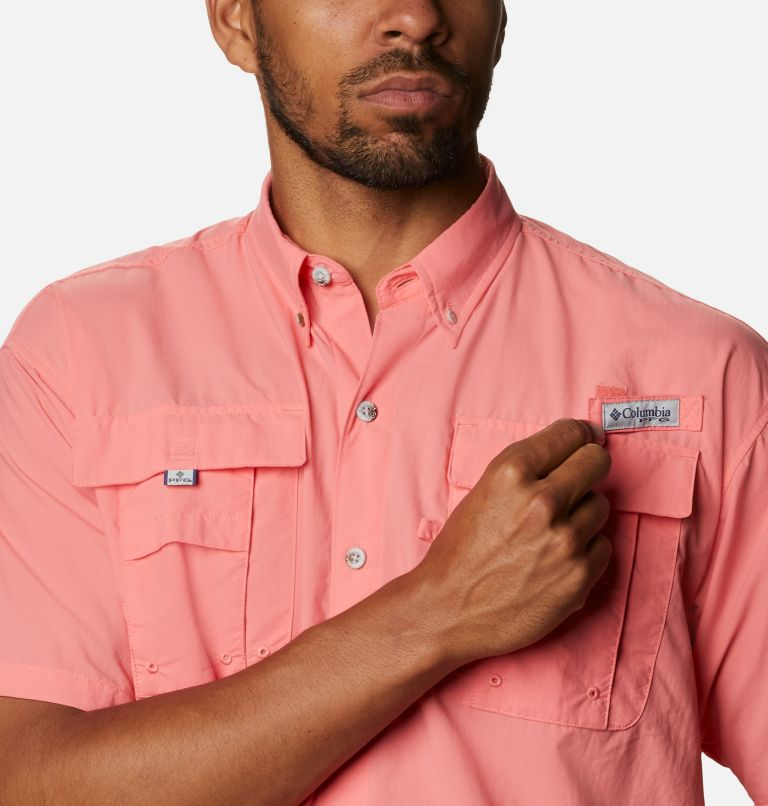 Bahama™ II S/S Shirt | 699 | XL Men's PFG Bahama™ II Short Sleeve Shirt, Salmon, a2