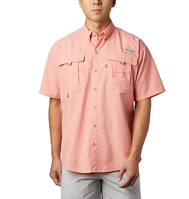 Men's PFG Bahama™ II Short Sleeve Shirt Bahama™ II S/S Shirt | 480 | M, Sorbet, front
