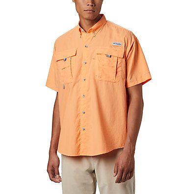 Men's PFG Bahama™ II Short Sleeve Shirt Bahama™ II S/S Shirt | 480 | M, Bright Nectar, front