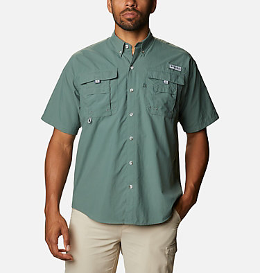 Men's PFG Bahama™ II Short Sleeve Shirt Bahama™ II S/S Shirt | 480 | M, Pond, front