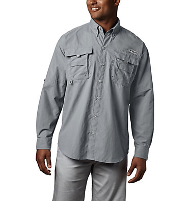 Men's PFG Bahama™ II Long Sleeve Shirt Bahama™ II L/S Shirt | 696 | XXS, Cool Grey, front