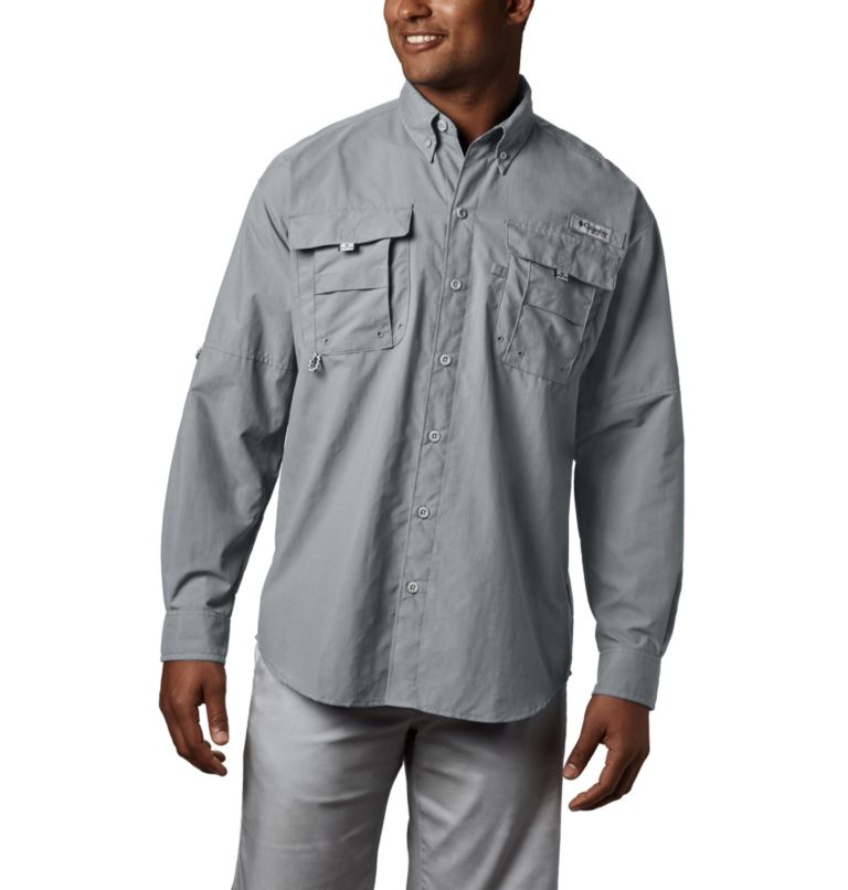 Bahama™ II L/S Shirt | 019 | XXL Men's PFG Bahama™ II Long Sleeve Shirt, Cool Grey, front