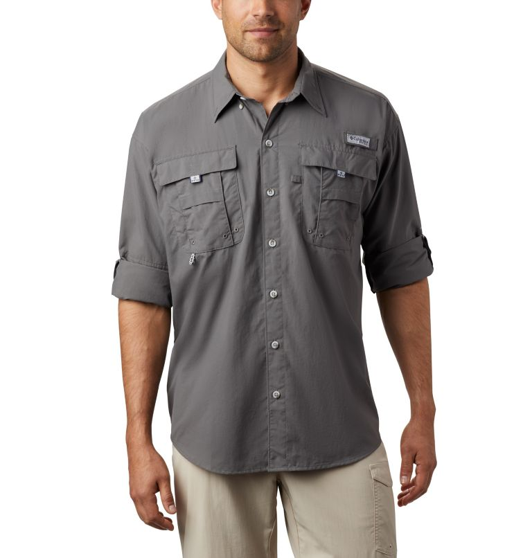 Bahama™ II L/S Shirt | 023 | S Men's PFG Bahama™ II Long Sleeve Shirt, City Grey, a1