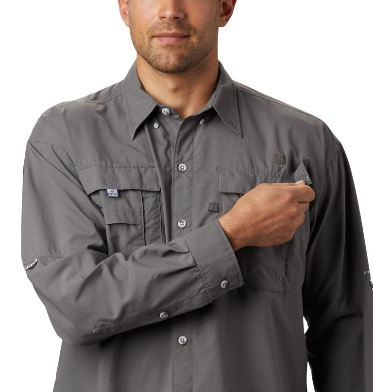 Bahama™ II L/S Shirt | 023 | XS Men's PFG Bahama™ II Long Sleeve Shirt, City Grey, a2