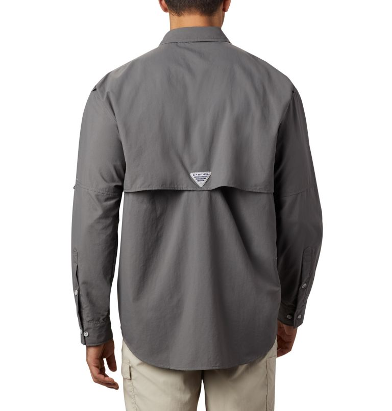 Bahama™ II L/S Shirt | 023 | S Men's PFG Bahama™ II Long Sleeve Shirt, City Grey, back