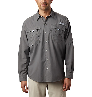 Men's PFG Bahama™ II Long Sleeve Shirt Bahama™ II L/S Shirt | 696 | XXS, City Grey, front