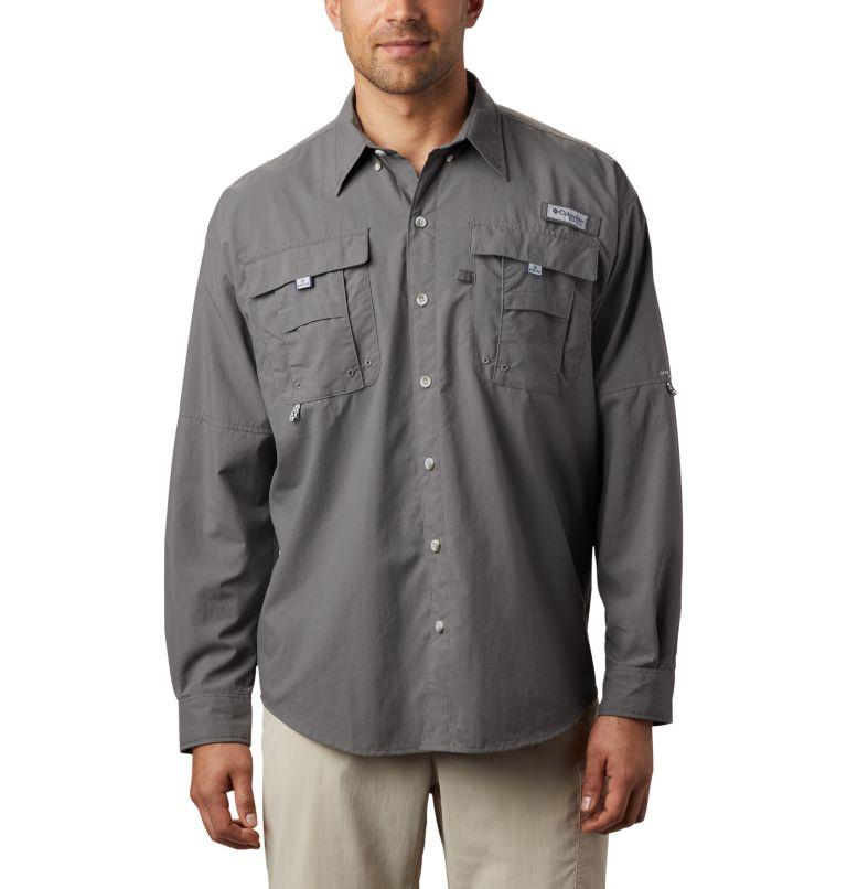Bahama™ II L/S Shirt | 023 | S Men's PFG Bahama™ II Long Sleeve Shirt, City Grey, front
