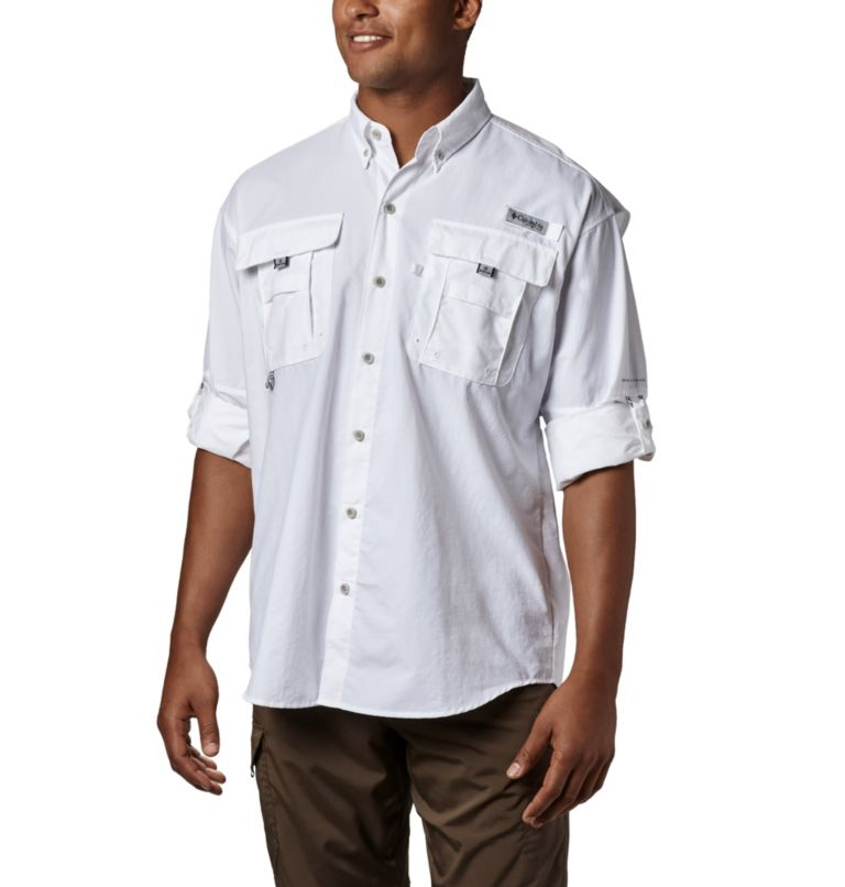 Bahama™ II L/S Shirt | 100 | XXL Men's PFG Bahama™ II Long Sleeve Shirt, White, a1
