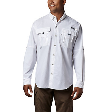 Men's PFG Bahama™ II Long Sleeve Shirt Bahama™ II L/S Shirt | 696 | XXS, White, front