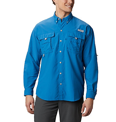 Men's PFG Bahama™ II Long Sleeve Shirt Bahama™ II L/S Shirt | 696 | XXS, Dark Pool, front