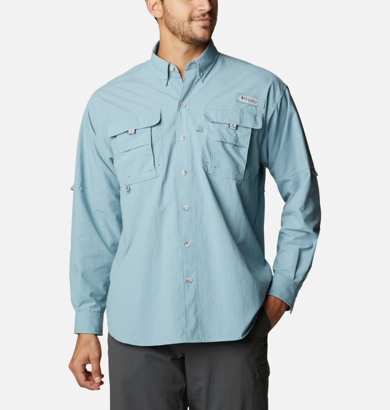 Bahama™ II L/S Shirt   447   M Men's PFG Bahama™ II Long Sleeve Shirt, Storm, front