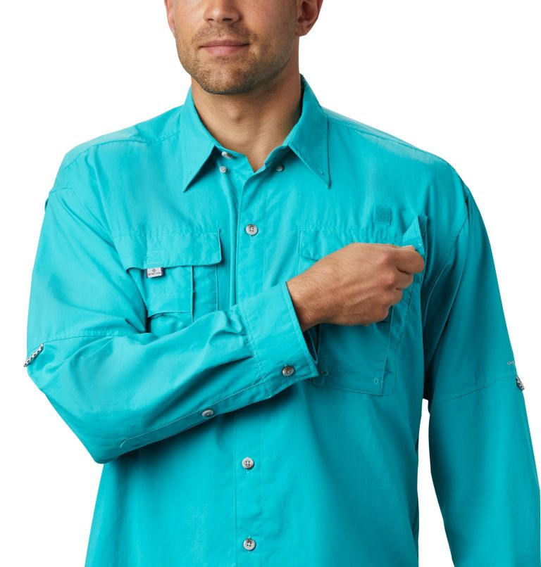 Bahama™ II L/S Shirt | 456 | XL Men's PFG Bahama™ II Long Sleeve Shirt, Bright Aqua, a2