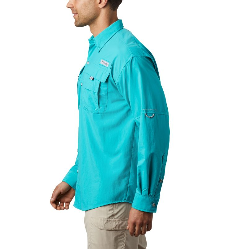 Bahama™ II L/S Shirt | 456 | XL Men's PFG Bahama™ II Long Sleeve Shirt, Bright Aqua, a4