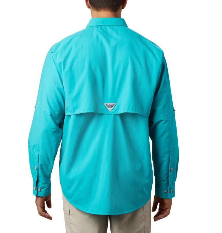 Bahama™ II L/S Shirt | 456 | S Men's PFG Bahama™ II Long Sleeve Shirt, Bright Aqua, back