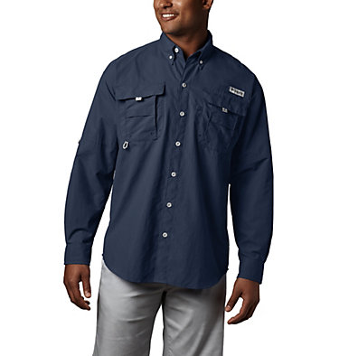 Men's PFG Bahama™ II Long Sleeve Shirt Bahama™ II L/S Shirt | 019 | L, Collegiate Navy, front