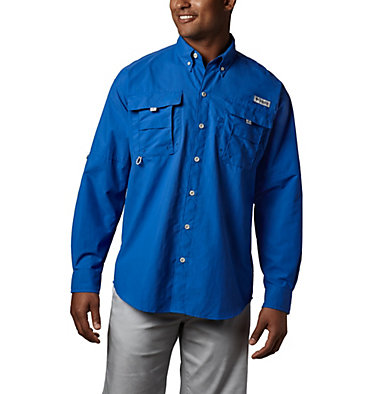 Men's PFG Bahama™ II Long Sleeve Shirt Bahama™ II L/S Shirt | 696 | XXS, Vivid Blue, front