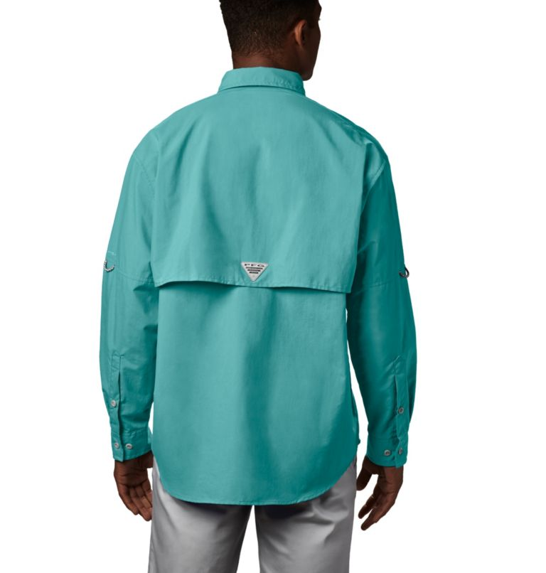 Bahama™ II L/S Shirt | 499 | S Men's PFG Bahama™ II Long Sleeve Shirt, Gulf Stream, back