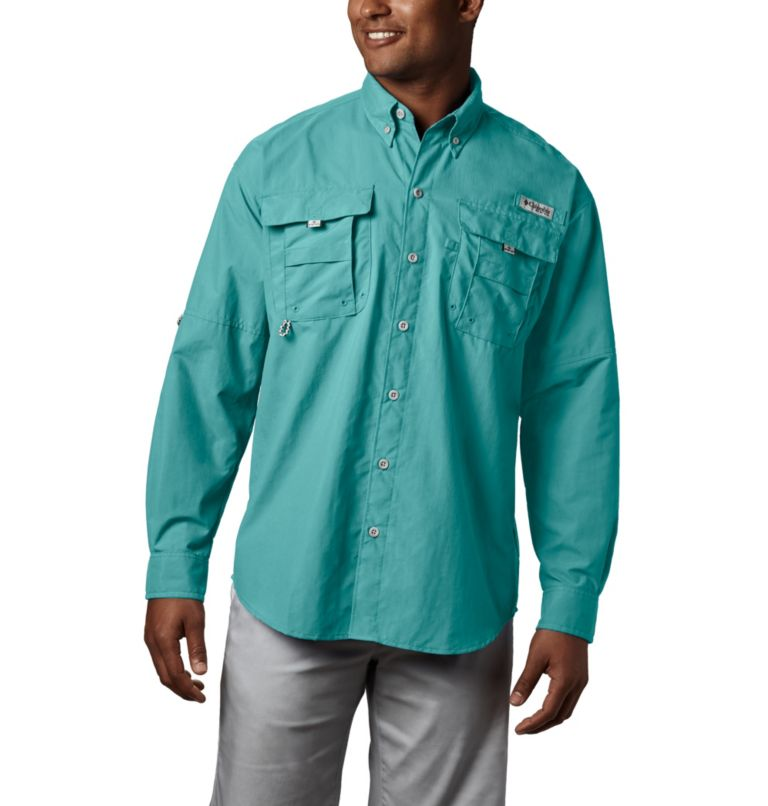 Bahama™ II L/S Shirt | 499 | S Men's PFG Bahama™ II Long Sleeve Shirt, Gulf Stream, front