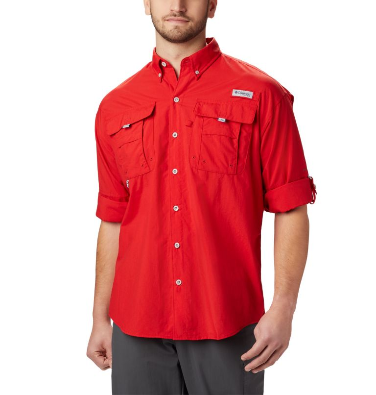 Bahama™ II L/S Shirt | 696 | XXL Men's PFG Bahama™ II Long Sleeve Shirt, Red Spark, a1