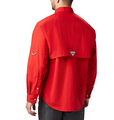 Men's PFG Bahama™ II Long Sleeve Shirt Bahama™ II L/S Shirt | 696 | XXS, Red Spark, back