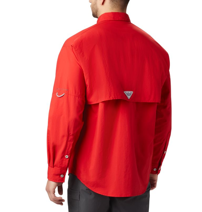 Bahama™ II L/S Shirt | 696 | XXL Men's PFG Bahama™ II Long Sleeve Shirt, Red Spark, back