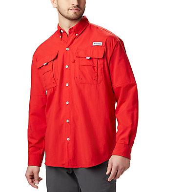 Men's PFG Bahama™ II Long Sleeve Shirt Bahama™ II L/S Shirt | 696 | XXS, Red Spark, front