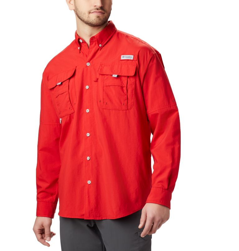 Bahama™ II L/S Shirt   696   M Men's PFG Bahama™ II Long Sleeve Shirt, Red Spark, front