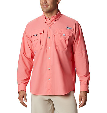 Men's PFG Bahama™ II Long Sleeve Shirt Bahama™ II L/S Shirt | 696 | XXS, Salmon, front