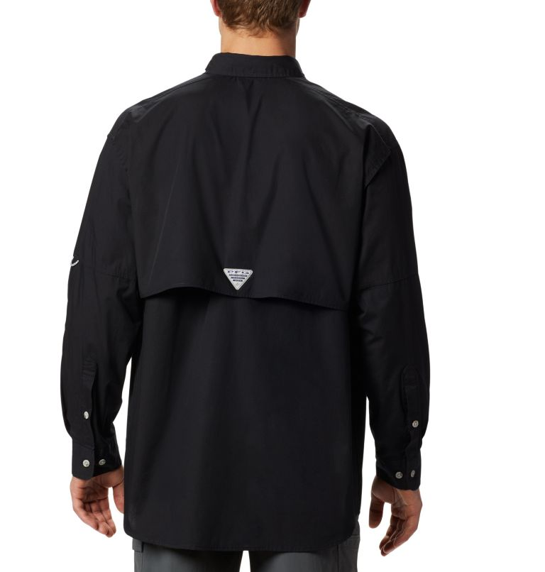 Bonehead™ LS Shirt | 010 | XS Men's PFG Bonehead™ Long Sleeve Shirt, Black, back